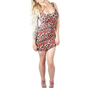 New Iron Fist Dying Roses Dress Size: Small
